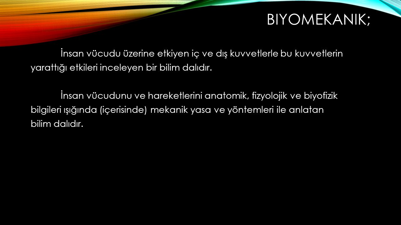 Biyomekanik;