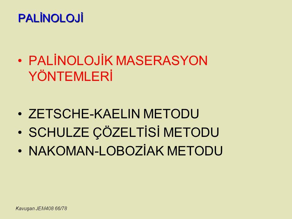 PALİNOLOJİK MASERASYON YÖNTEMLERİ