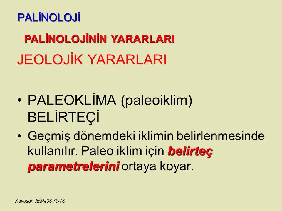 PALEOKLİMA (paleoiklim) BELİRTEÇİ