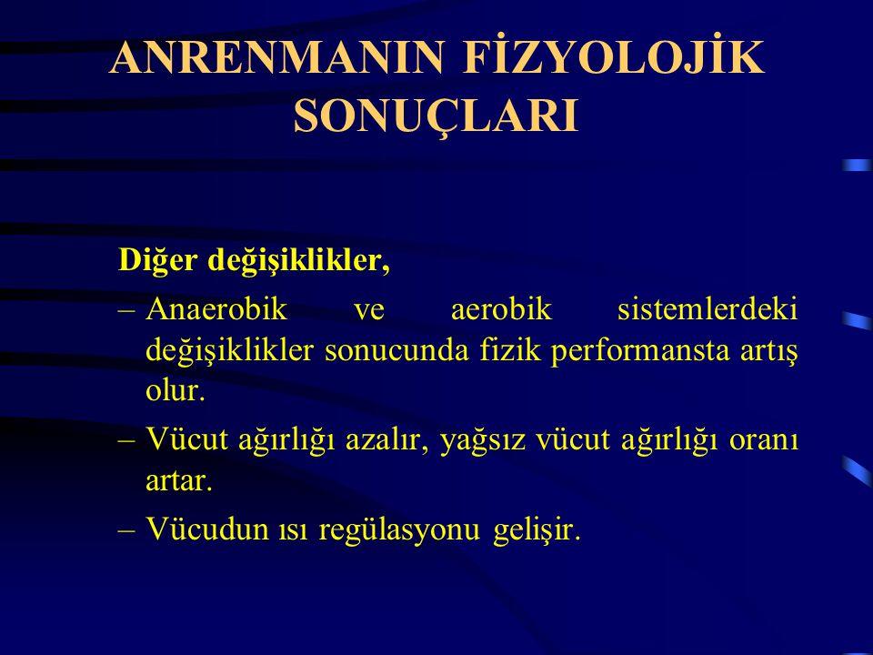 ANRENMANIN FİZYOLOJİK SONUÇLARI