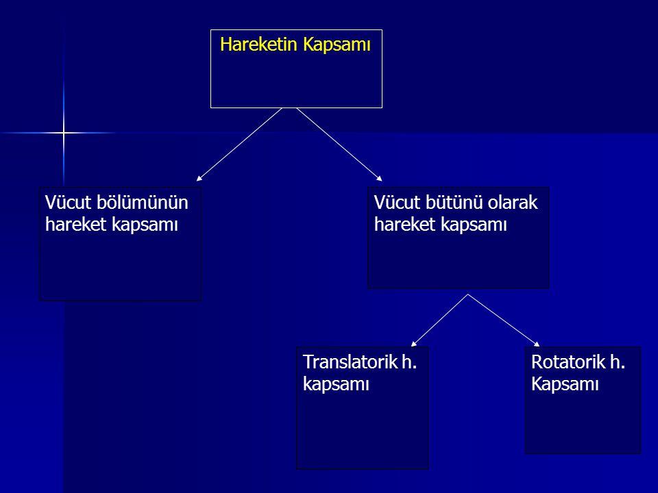 Hareketin Kapsamı Vücut bölümünün. hareket kapsamı. Vücut bütünü olarak. Translatorik h. kapsamı.