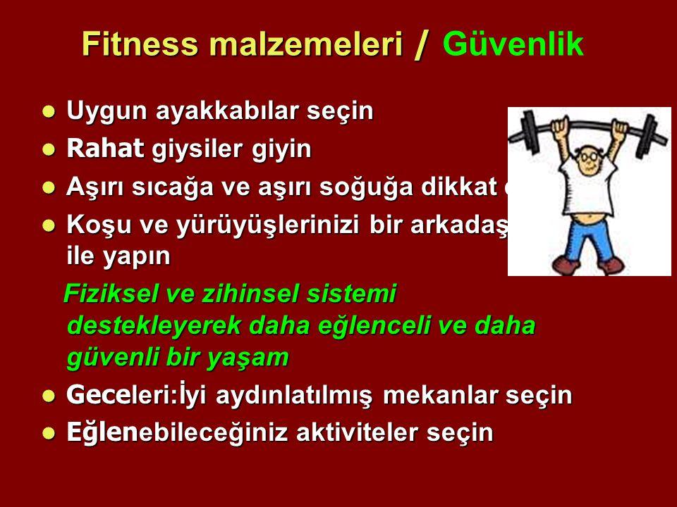 Fitness malzemeleri / Güvenlik