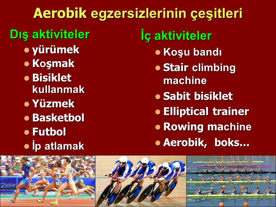Aerobik egzersizlerinin çeşitleri