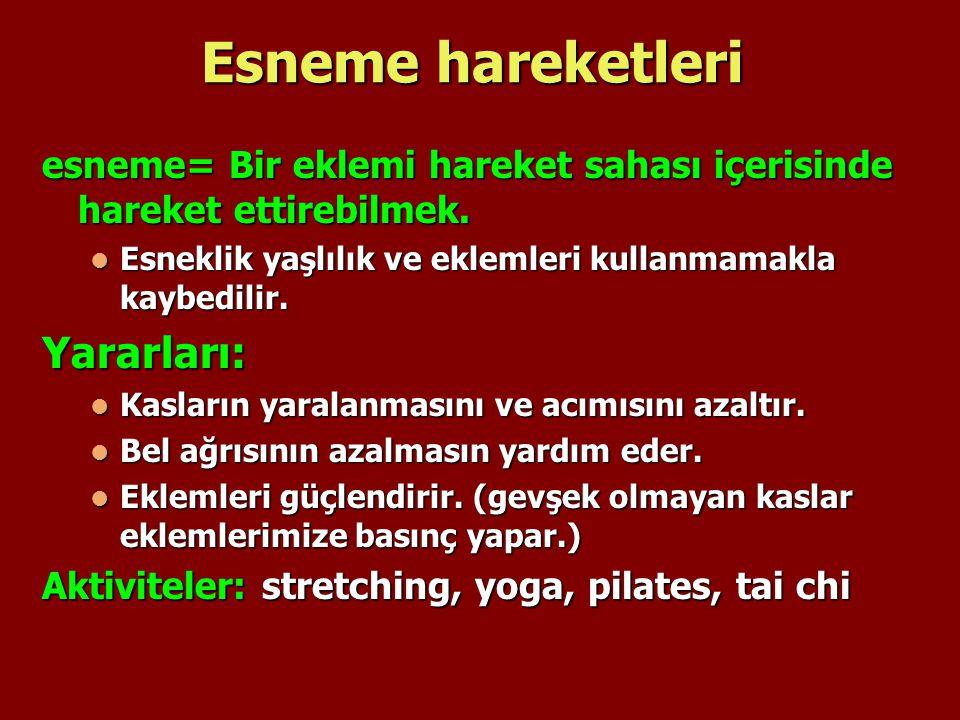 Esneme hareketleri Yararları: