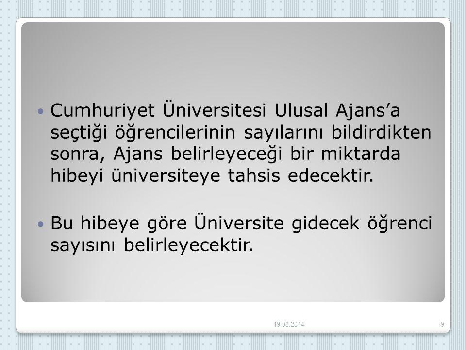 Bu hibeye göre Üniversite gidecek öğrenci sayısını belirleyecektir.