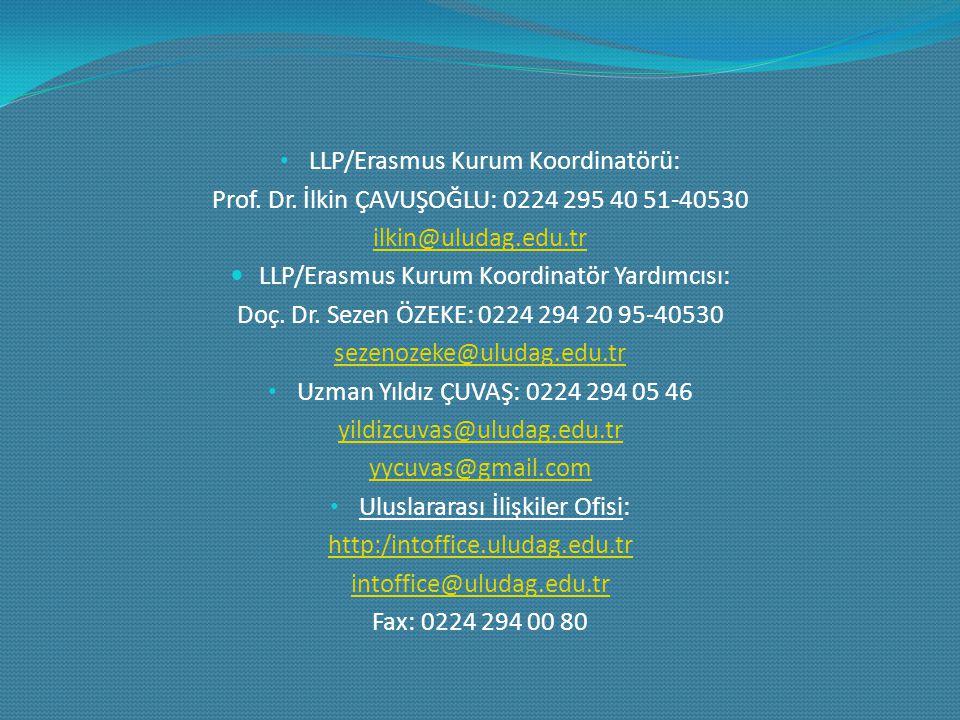 LLP/Erasmus Kurum Koordinatörü: