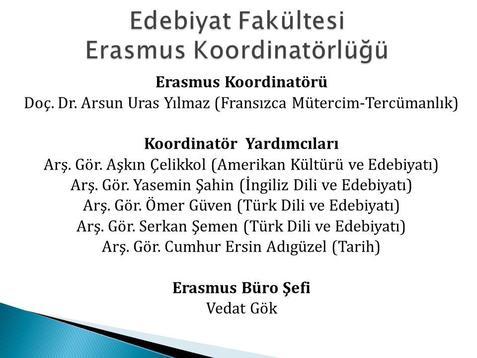 Edebiyat Fakültesi Erasmus Koordinatörlüğü