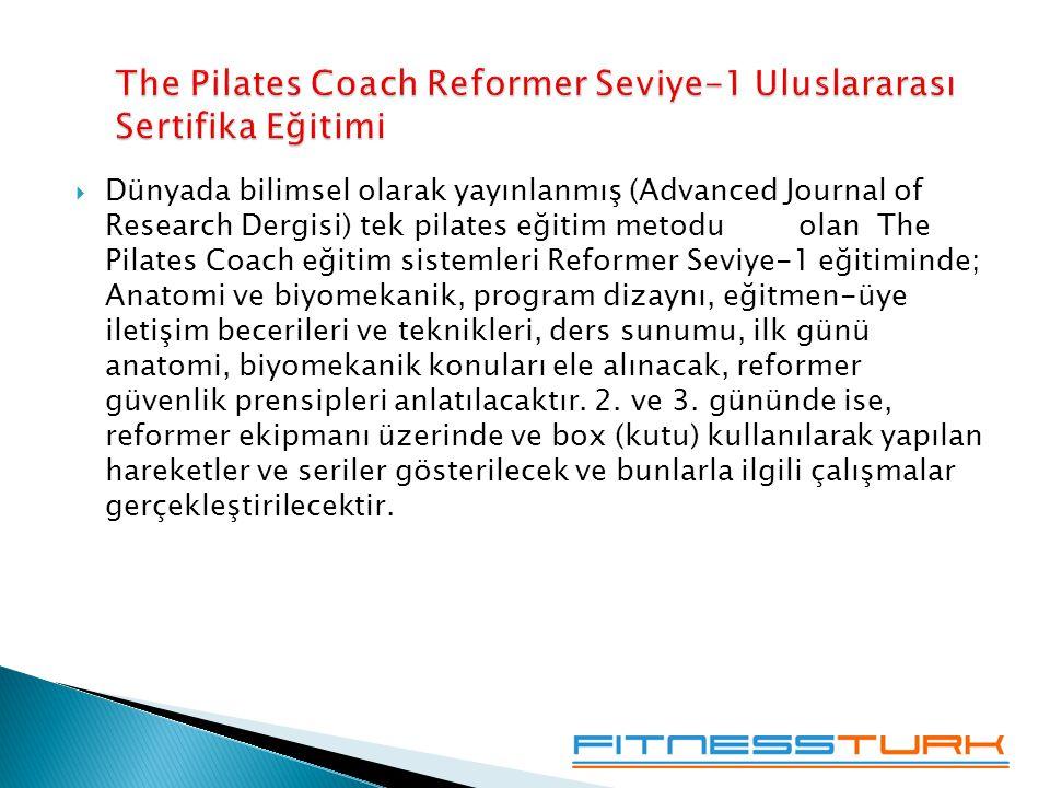 The Pilates Coach Reformer Seviye-1 Uluslararası Sertifika Eğitimi