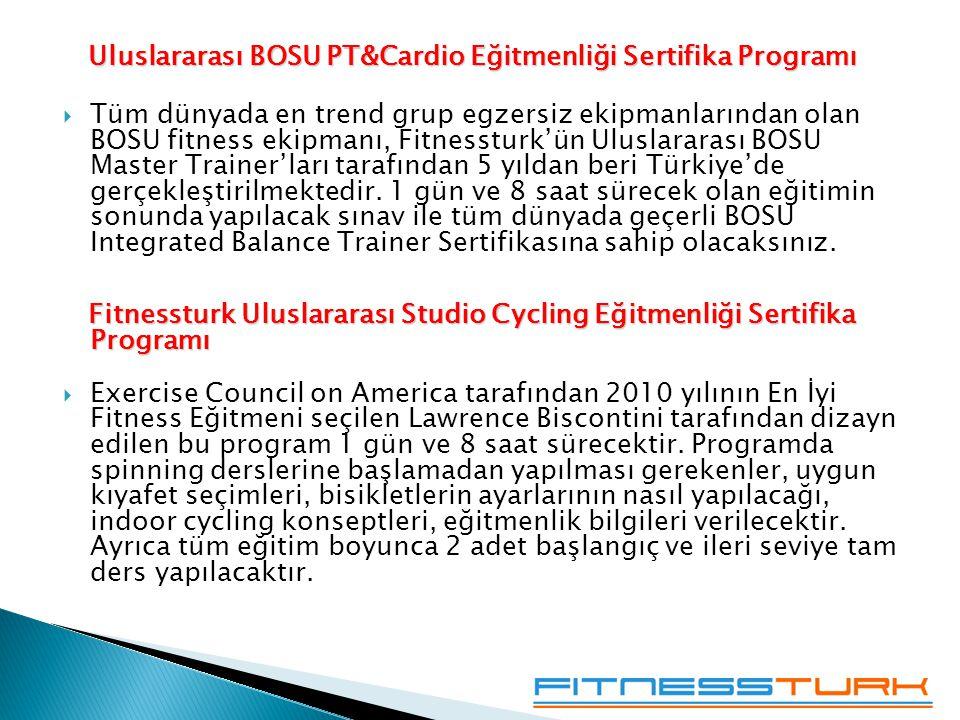 Uluslararası BOSU PT&Cardio Eğitmenliği Sertifika Programı
