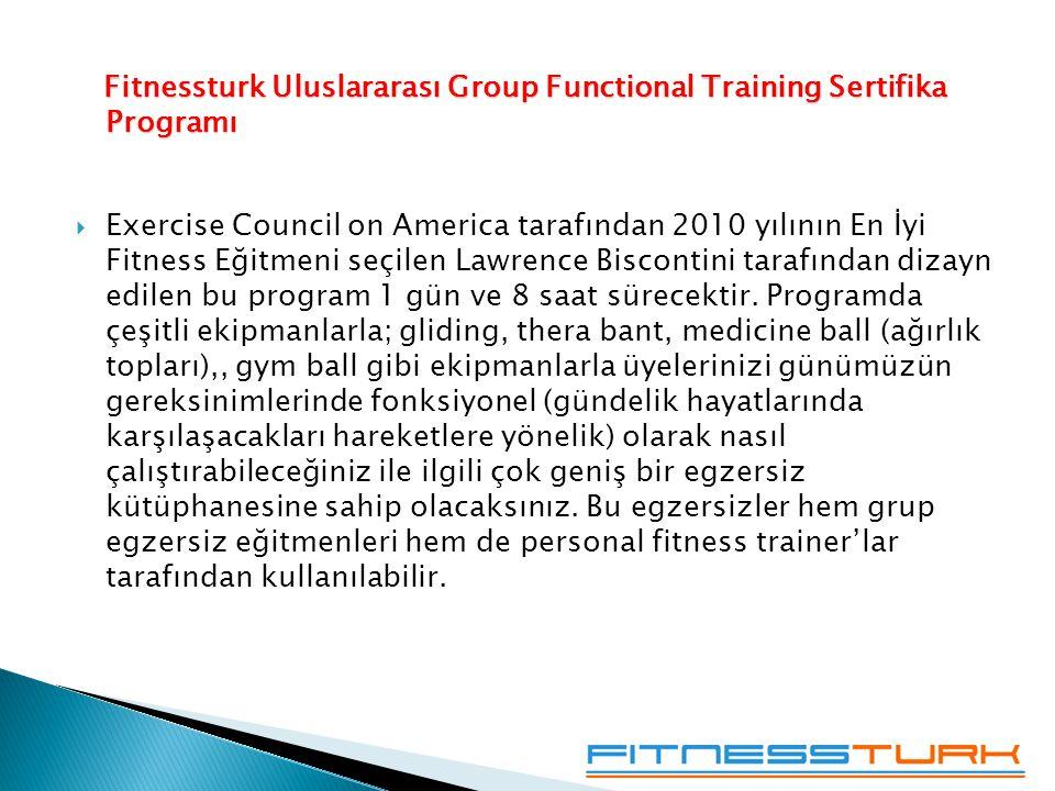 Fitnessturk Uluslararası Group Functional Training Sertifika Programı