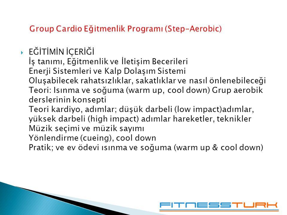 Group Cardio Eğitmenlik Programı (Step-Aerobic)