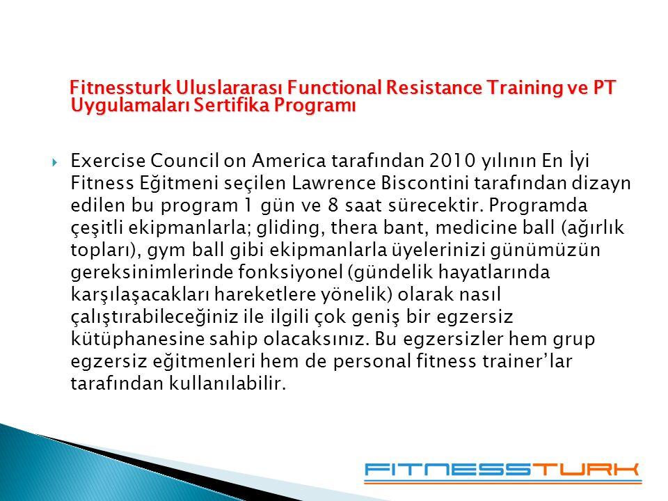 Fitnessturk Uluslararası Functional Resistance Training ve PT Uygulamaları Sertifika Programı