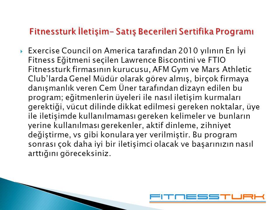 Fitnessturk İletişim- Satış Becerileri Sertifika Programı