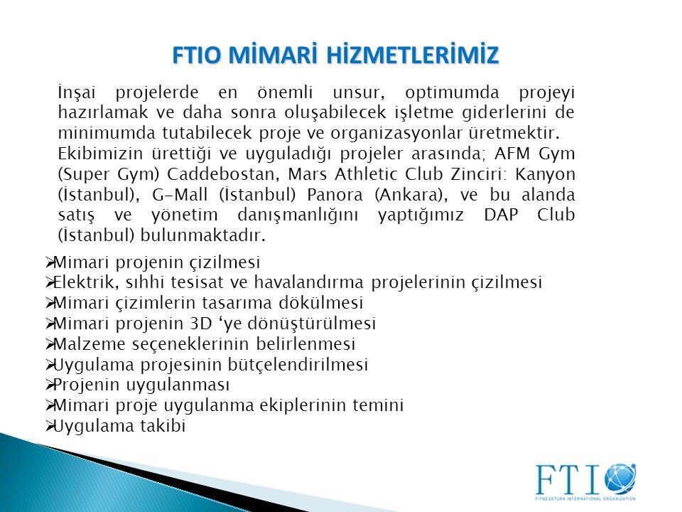 FTIO MİMARİ HİZMETLERİMİZ