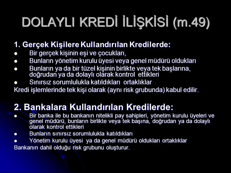DOLAYLI KREDİ İLİŞKİSİ (m.49)