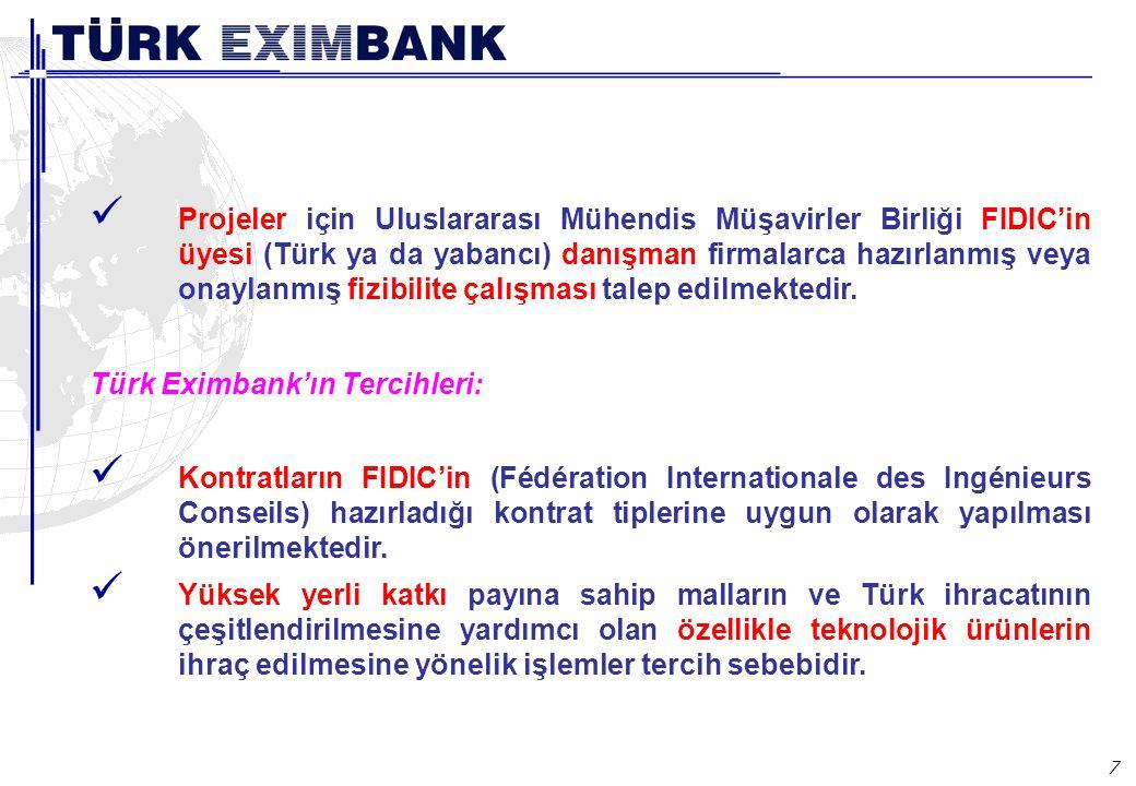 Türk Eximbank Ülke Kredi/Garanti Programının Koşulları: