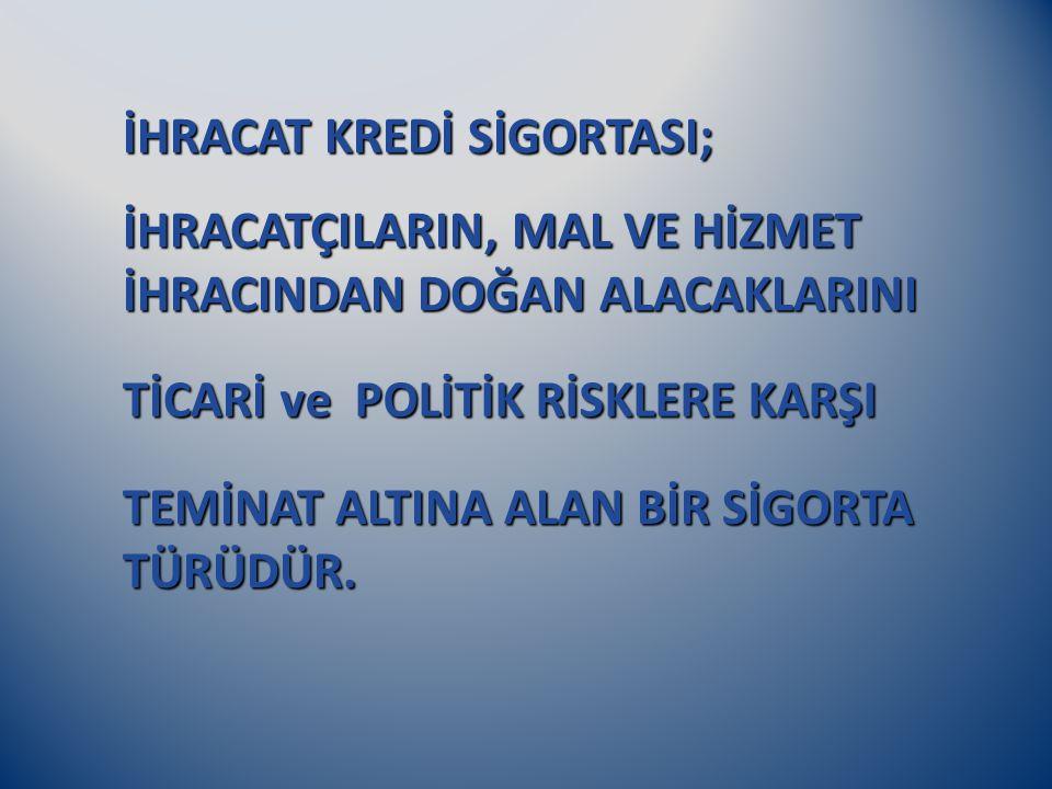 İHRACAT KREDİ SİGORTASI;