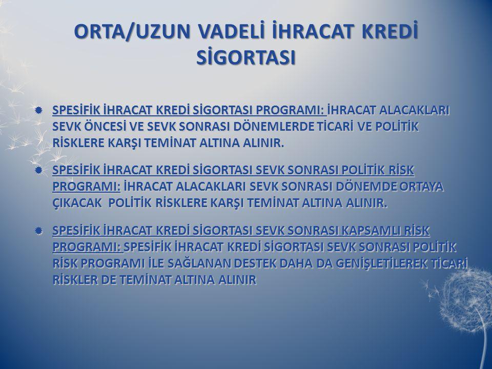 ORTA/UZUN VADELİ İHRACAT KREDİ SİGORTASI