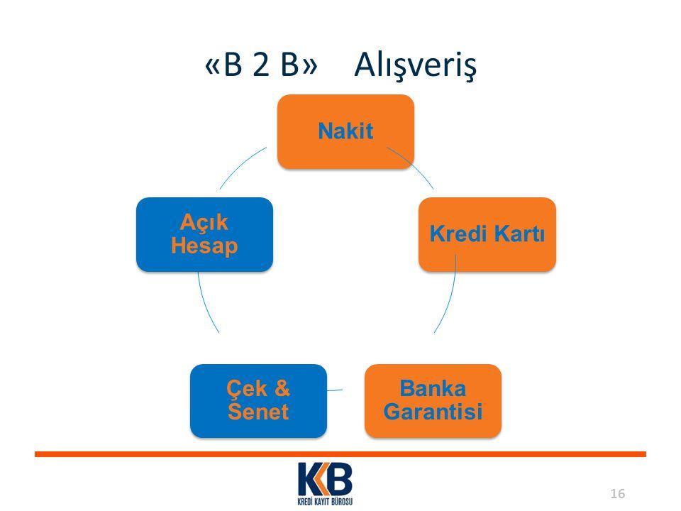 «B 2 B» Alışveriş Nakit Kredi Kartı Banka Garantisi Çek & Senet