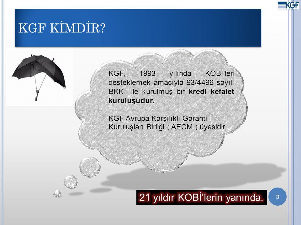 KGF KİMDİR 21 yıldır KOBİ'lerin yanında.