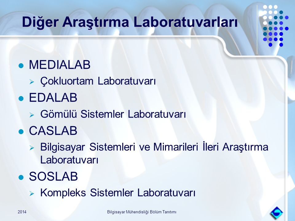 Diğer Araştırma Laboratuvarları