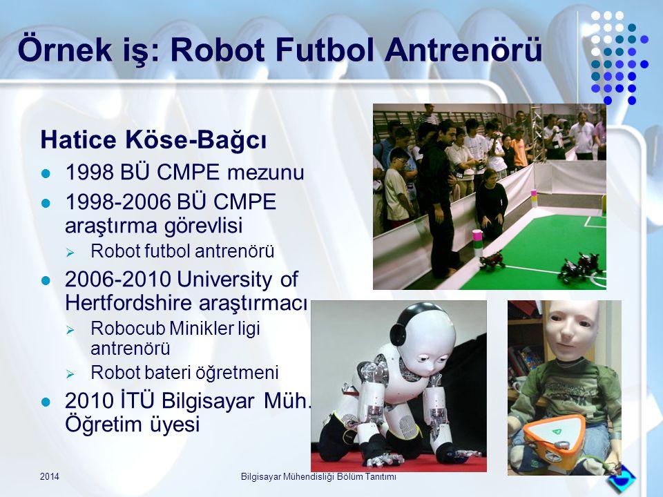Örnek iş: Robot Futbol Antrenörü