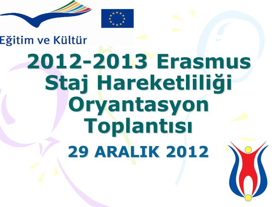 2012-2013 Erasmus Staj Hareketliliği Oryantasyon Toplantısı