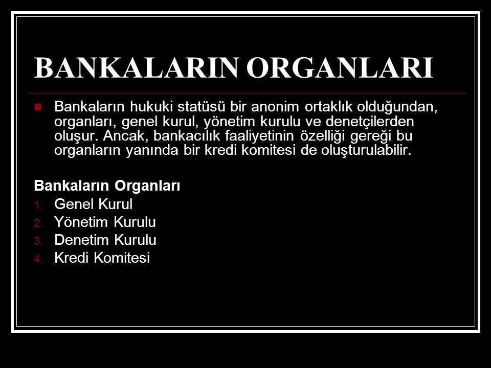 BANKALARIN ORGANLARI
