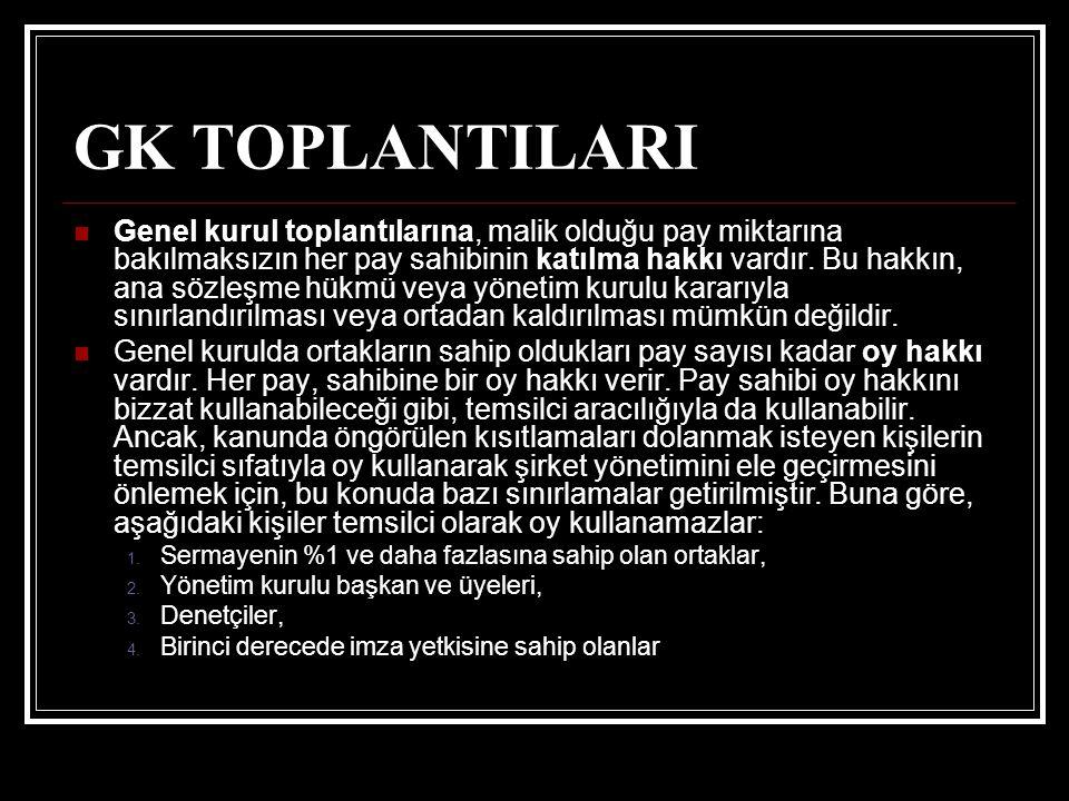 GK TOPLANTILARI