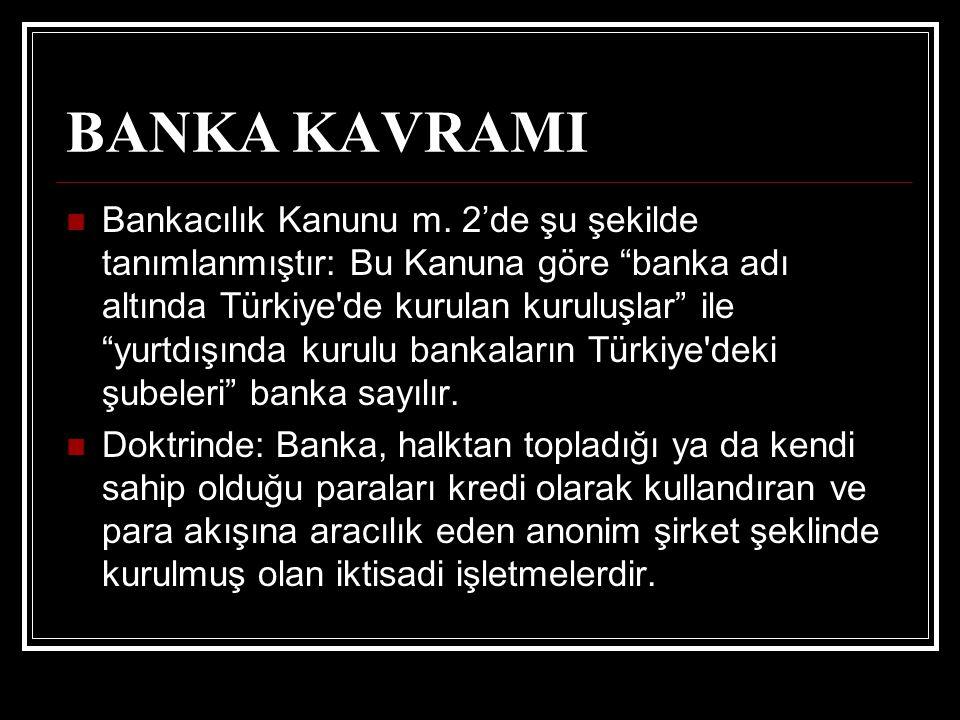 BANKA KAVRAMI