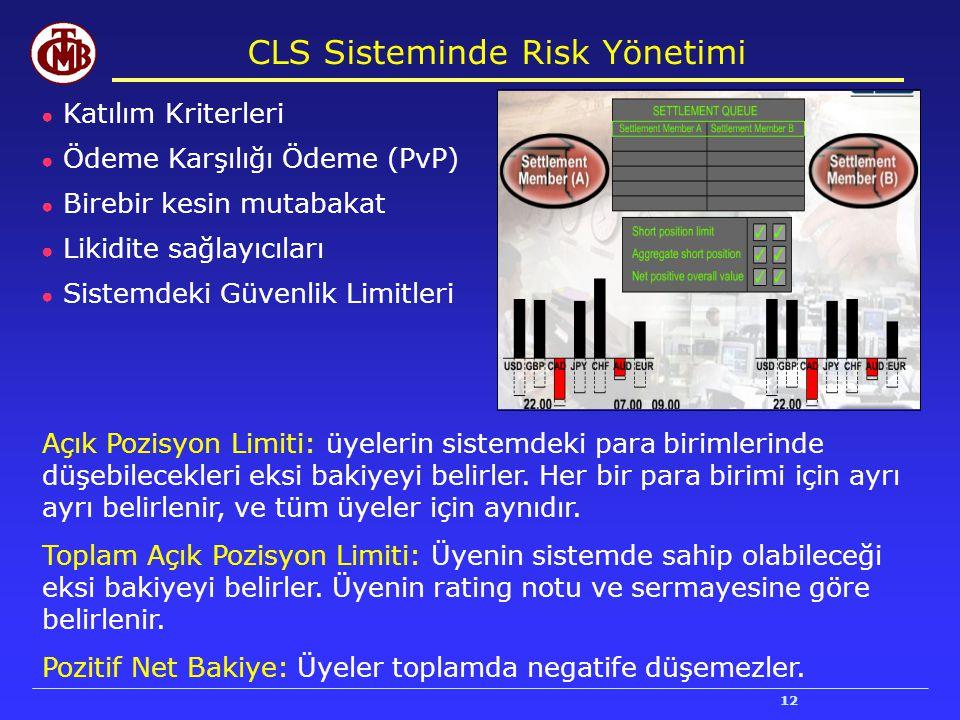 CLS Sisteminde Risk Yönetimi