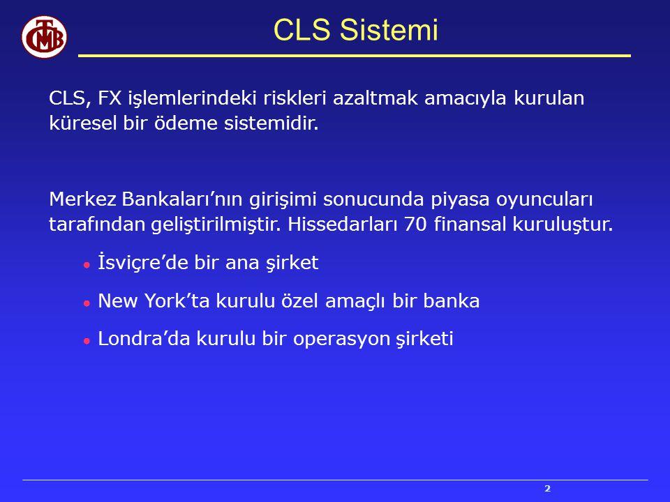 CLS Sistemi CLS, FX işlemlerindeki riskleri azaltmak amacıyla kurulan küresel bir ödeme sistemidir.