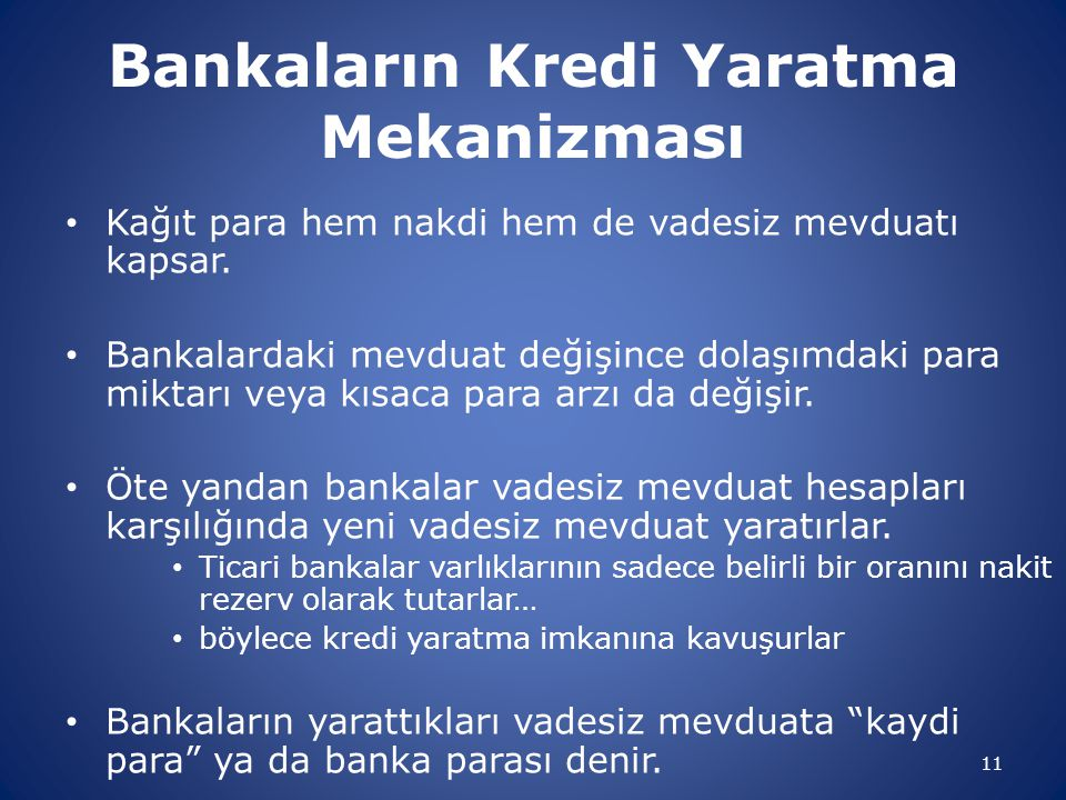 Bankaların Kredi Yaratma Mekanizması