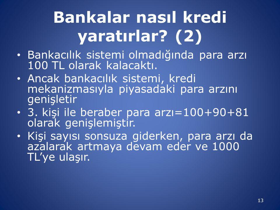 Bankalar nasıl kredi yaratırlar (2)