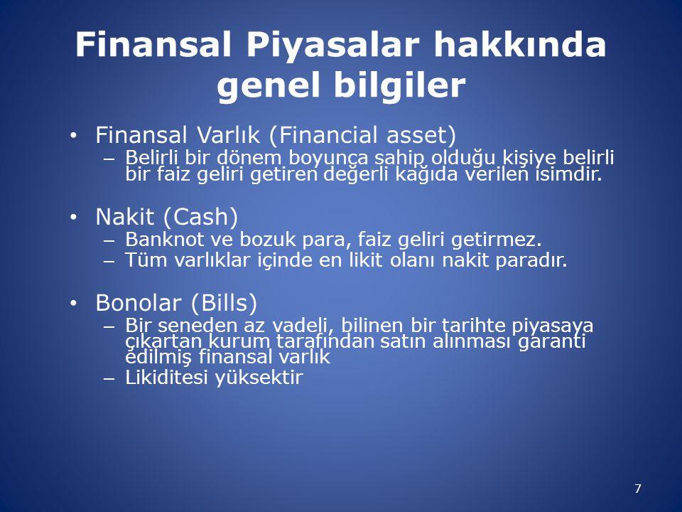 Finansal Piyasalar hakkında genel bilgiler