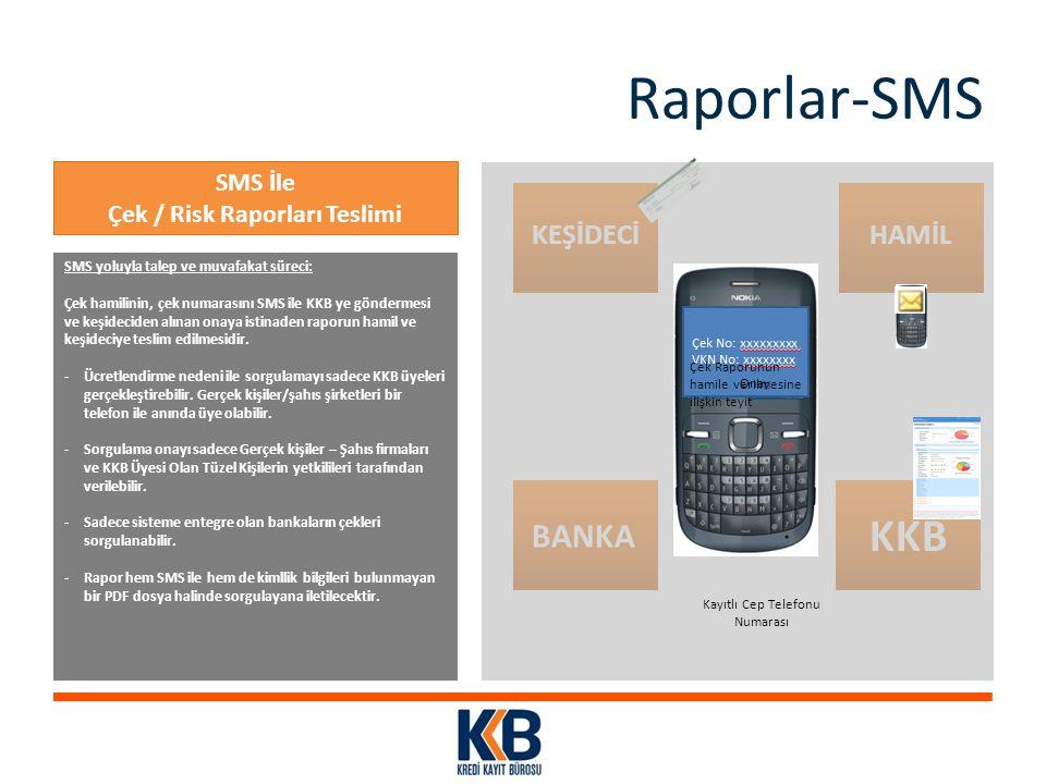Çek / Risk Raporları Teslimi