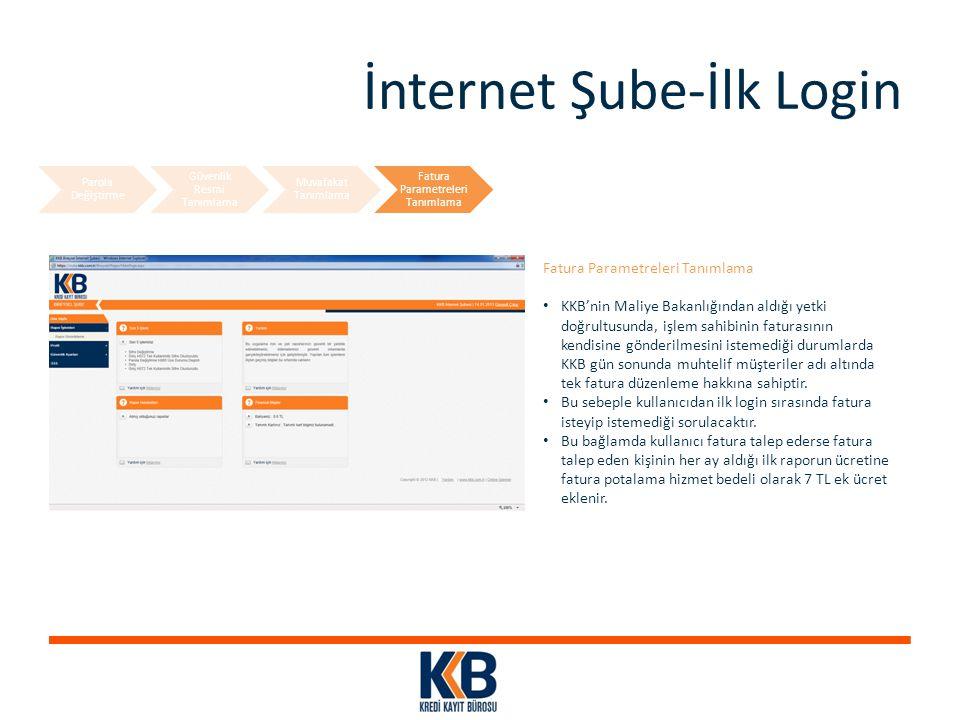İnternet Şube-İlk Login