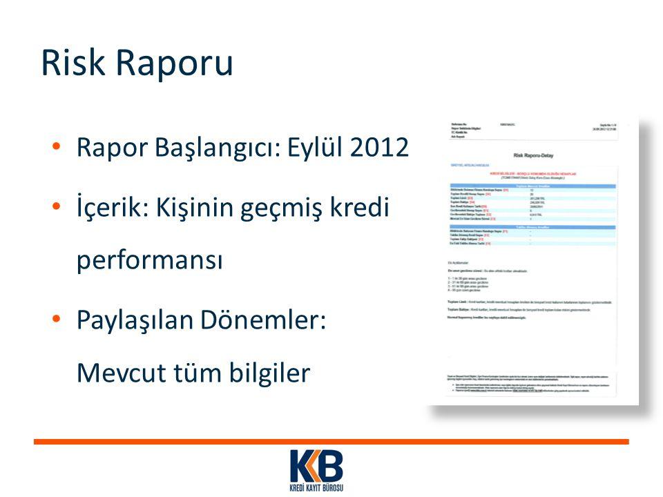 Risk Raporu Rapor Başlangıcı: Eylül 2012