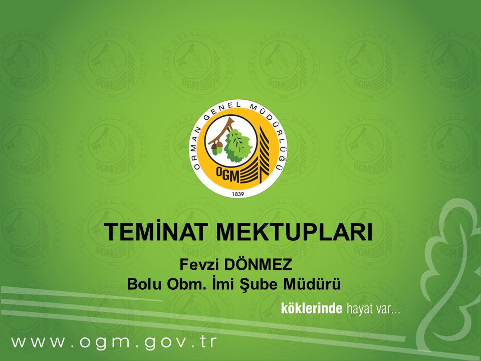 Bolu Obm. İmi Şube Müdürü
