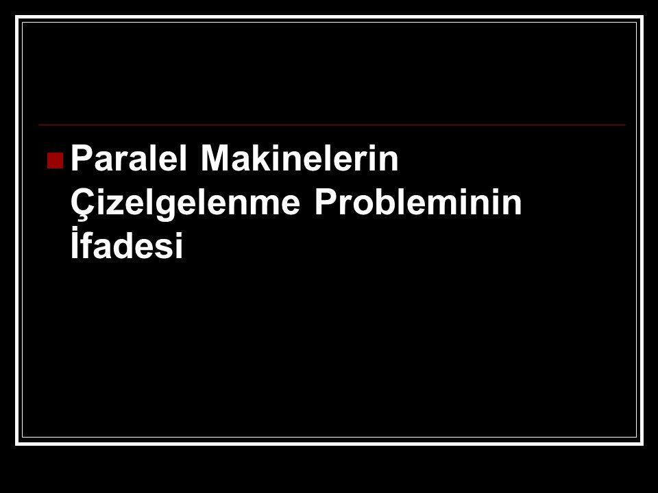 Paralel Makinelerin Çizelgelenme Probleminin İfadesi