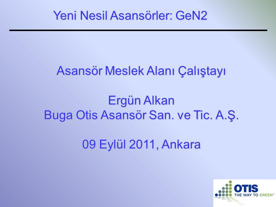Yeni Nesil Asansörler: GeN2