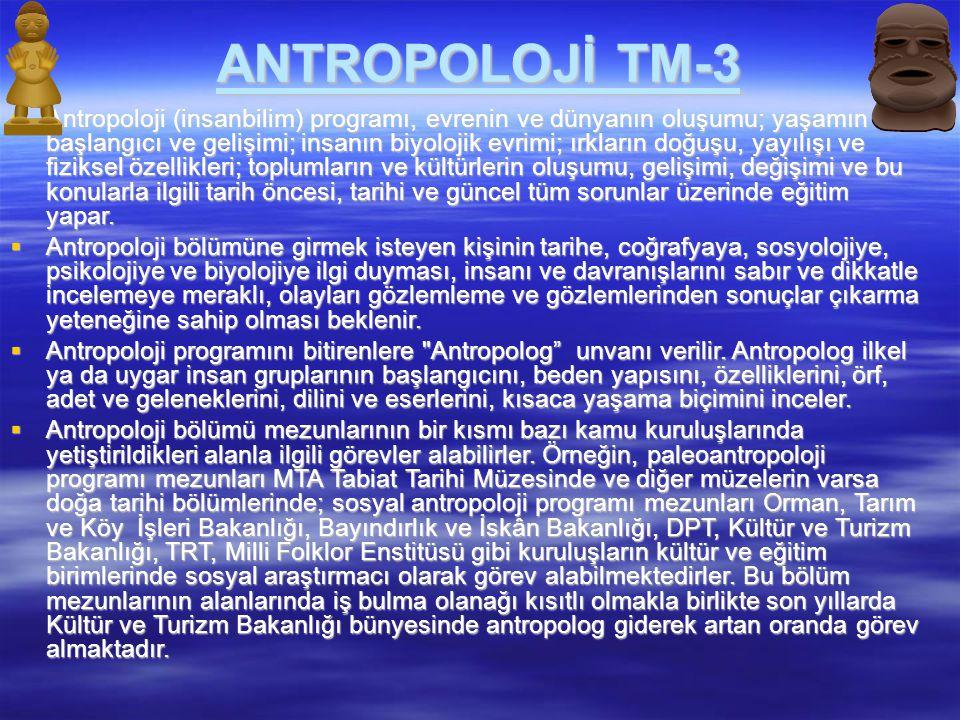 ANTROPOLOJİ TM-3