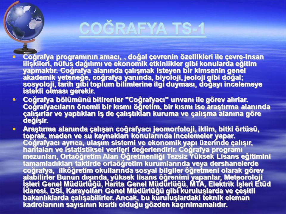 COĞRAFYA TS-1