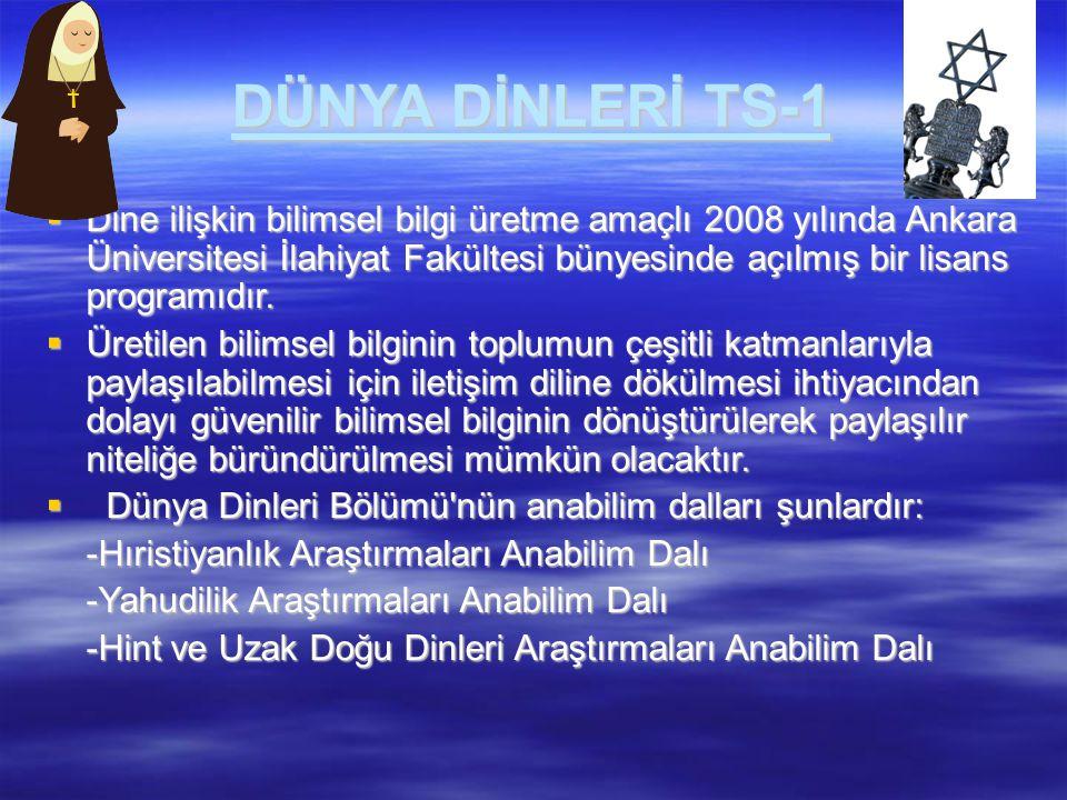 DÜNYA DİNLERİ TS-1