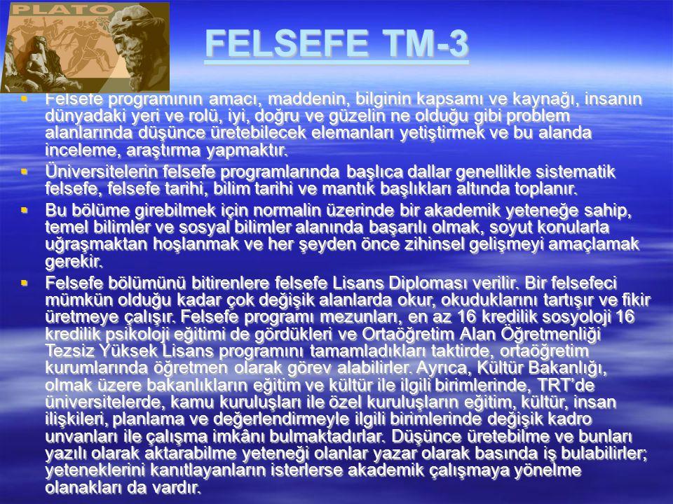 FELSEFE TM-3