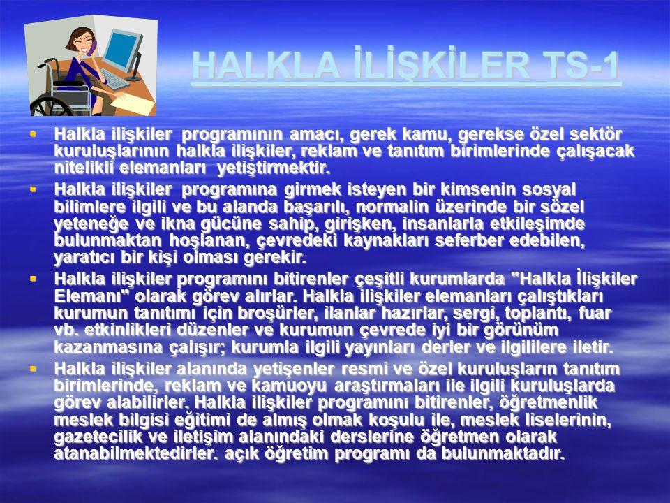 HALKLA İLİŞKİLER TS-1