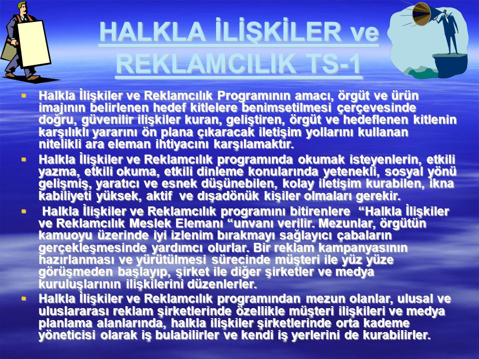 HALKLA İLİŞKİLER ve REKLAMCILIK TS-1