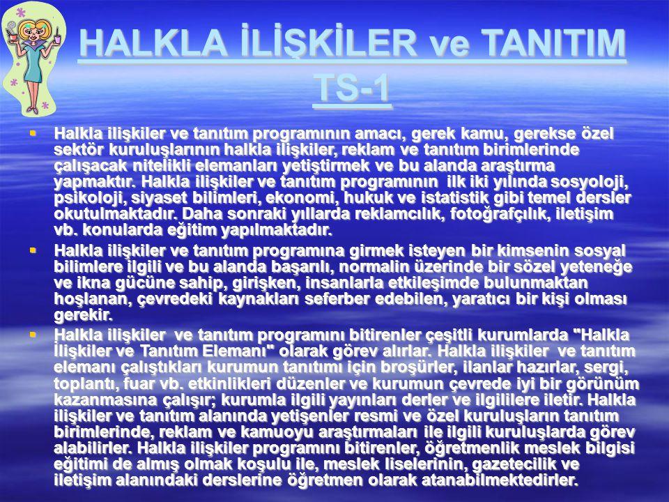 HALKLA İLİŞKİLER ve TANITIM TS-1