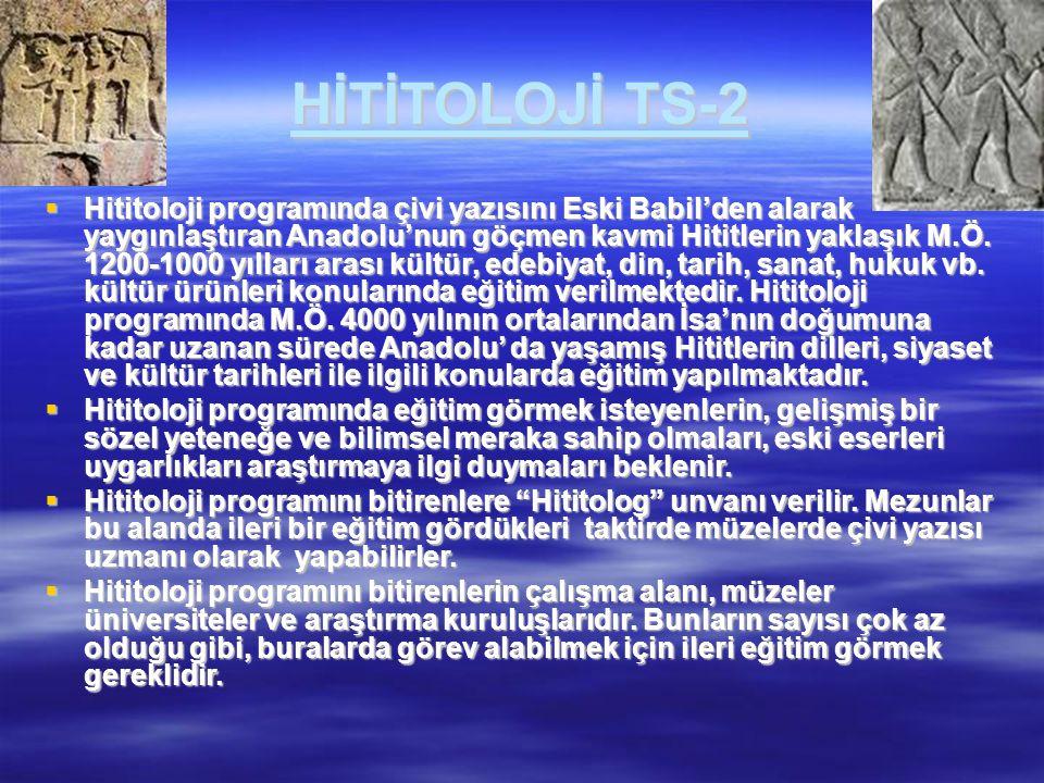 HİTİTOLOJİ TS-2