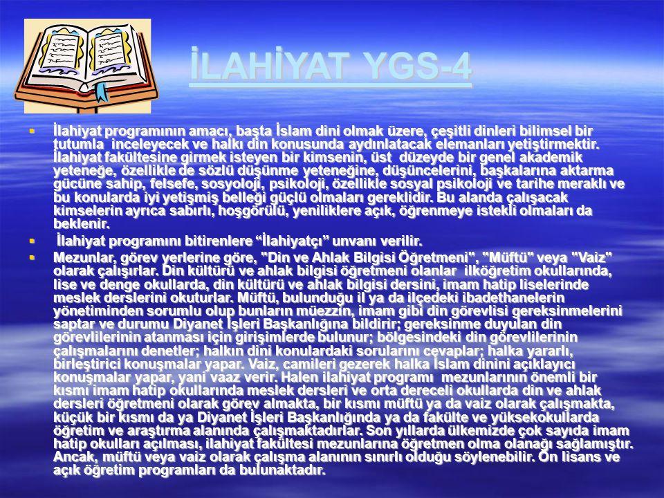 İLAHİYAT YGS-4